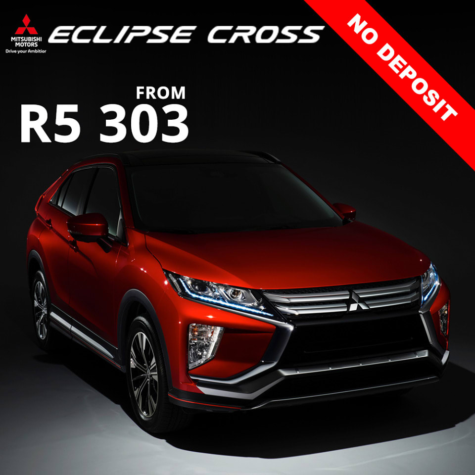 Drive your new Mitsubishi Eclipse Cross from only R 5,303
