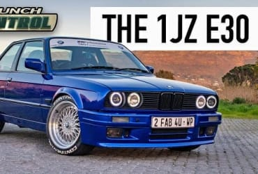Turbocharged Toyota 1JZ engine into a BMW E30 chassis.