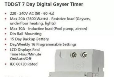 Geyser Timers Installation