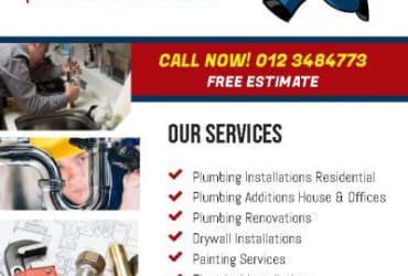 Burg's Plumbing Drywall Installation in Pretoria