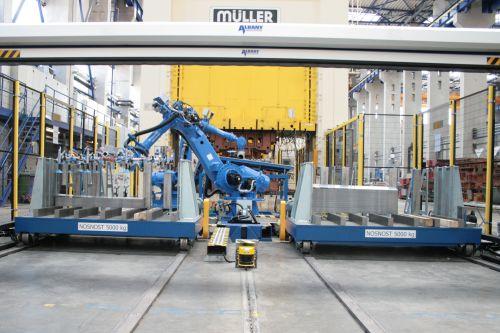 Řešení materiálového toku u automatických lisovacích linek