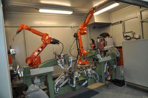 Robotic welding station OP50