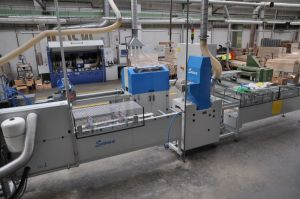 CNC line for processing of wooden ski cores