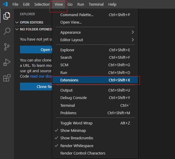 Hello World Visual Studio Code C# Example