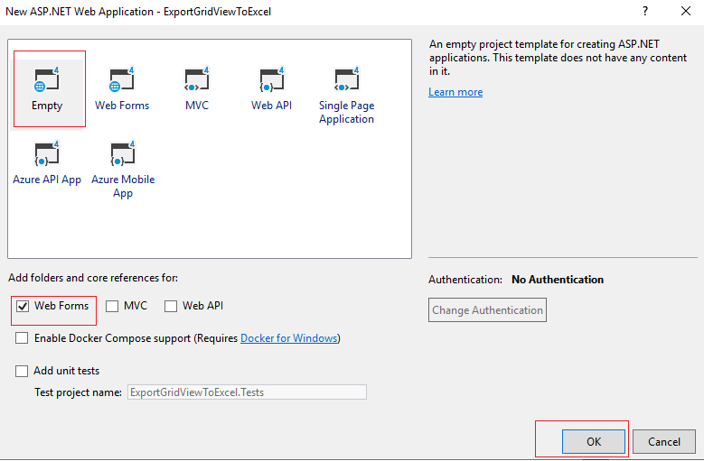 Export to Excel C# GridView in ASP.NET Web-Form