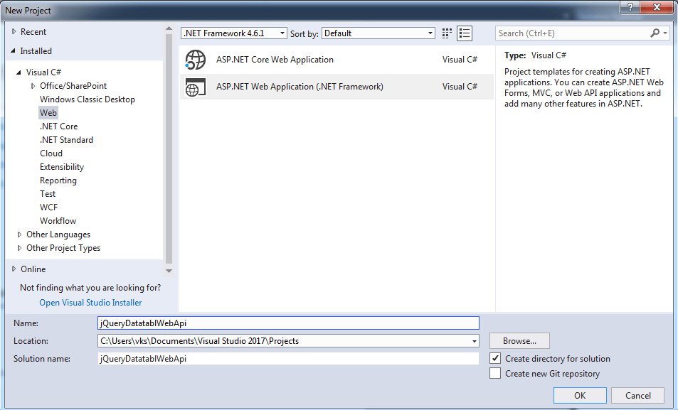 jQuery datatable server side processing with Web API in ASP.NET MVC