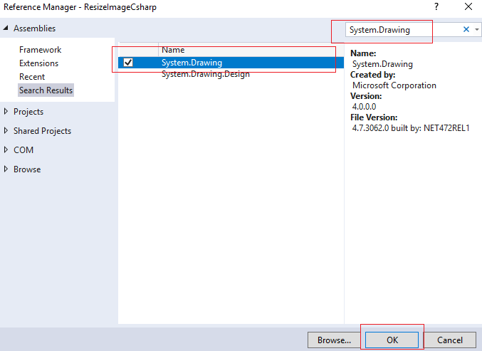 Resize image in C# (Console application example)