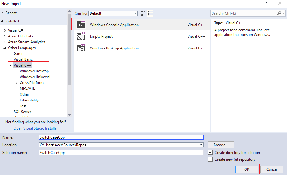 Switch case in C++ with example