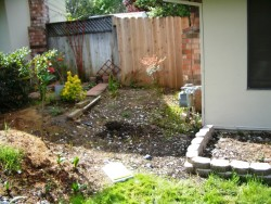 RS Handyman - Concrete Retaining Wall Before