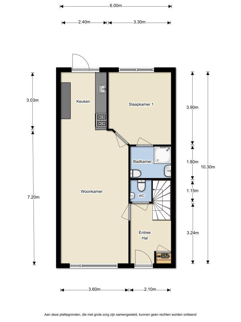 Schapenmeent 244 – Almere – Plattegrond