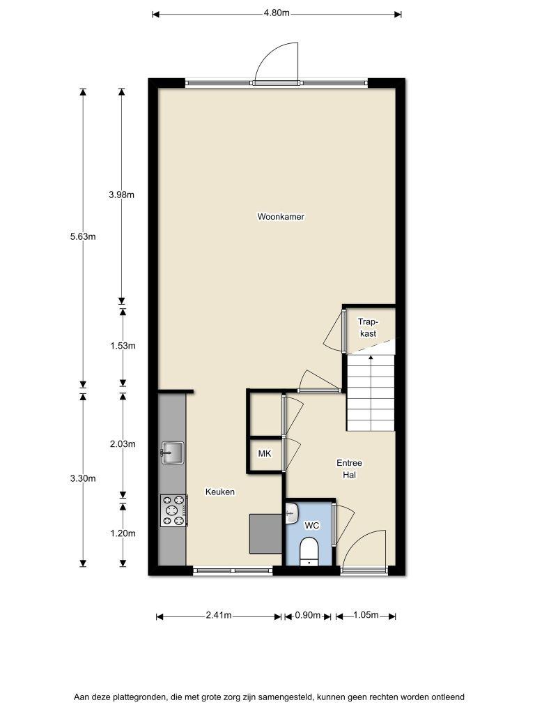 Oosterhoutstraat 9 – Almere – Plattegrond