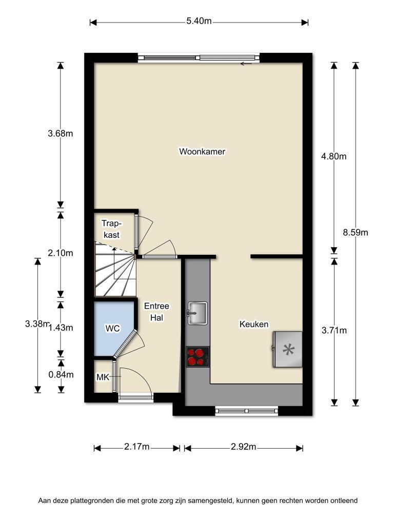 Hildebrandstraat 35 – Almere – Plattegrond