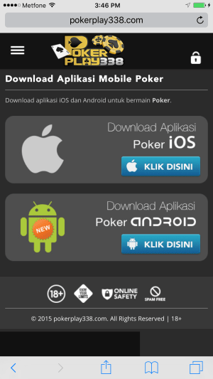 Login Poker88 android