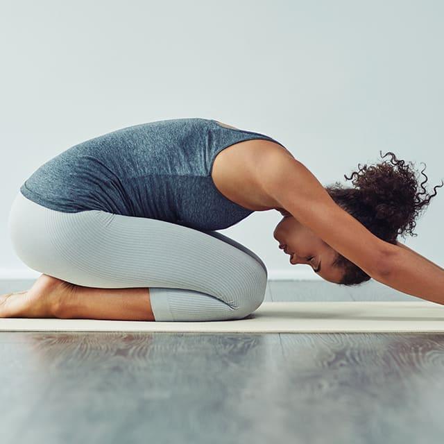 Yoga stretching pose