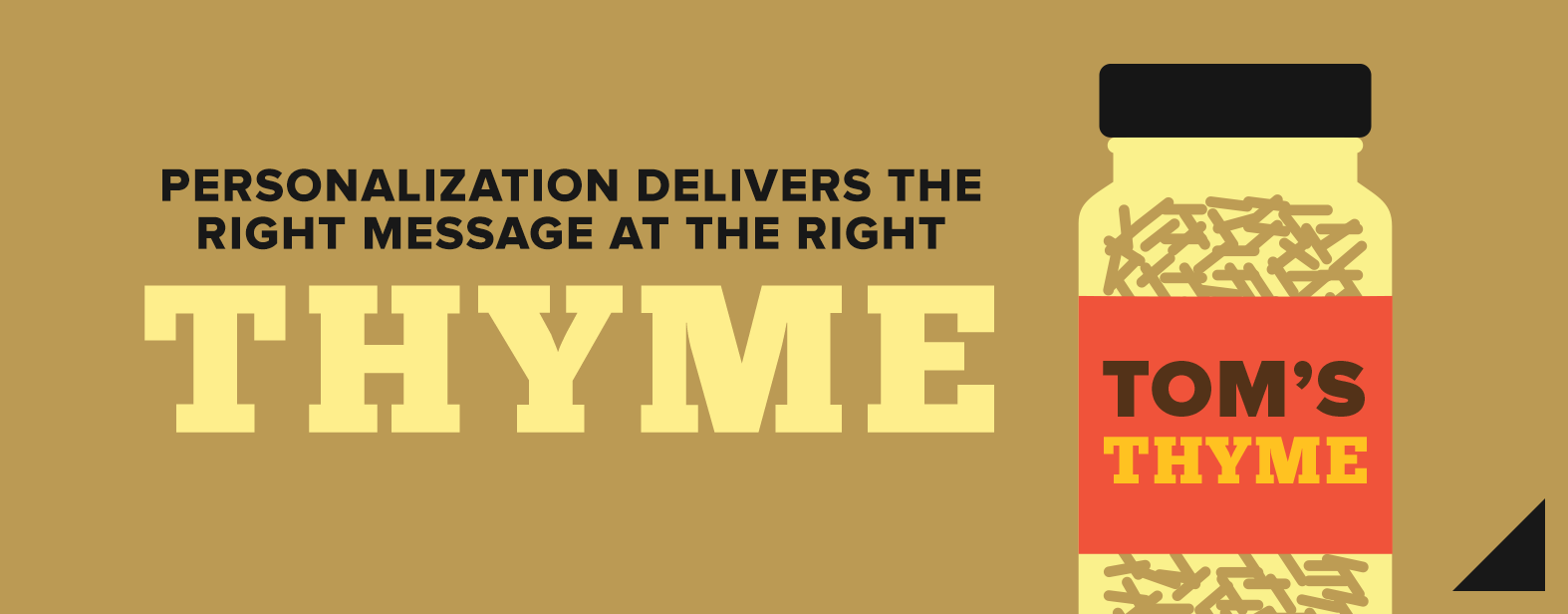 Personalization delivers the right message at the right thyme.
