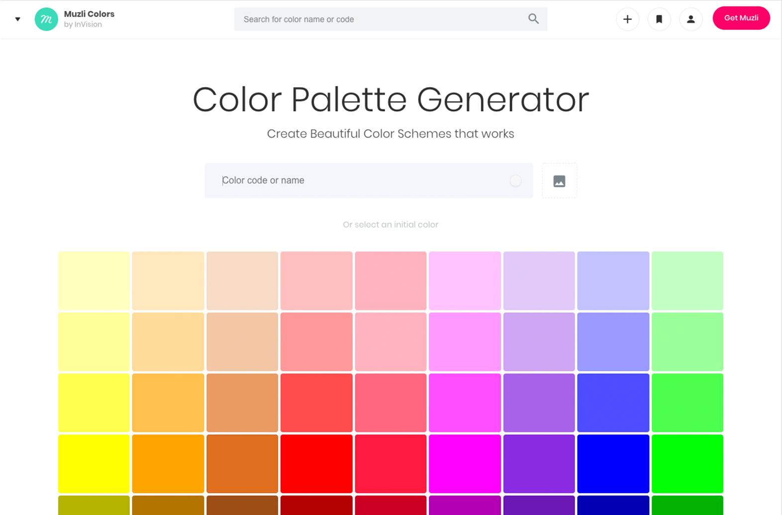muzli color palette generator