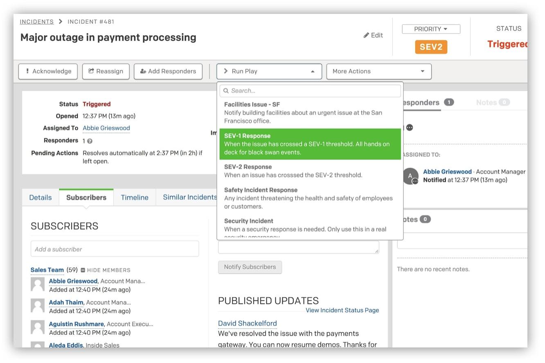 Response automation PagerDuty