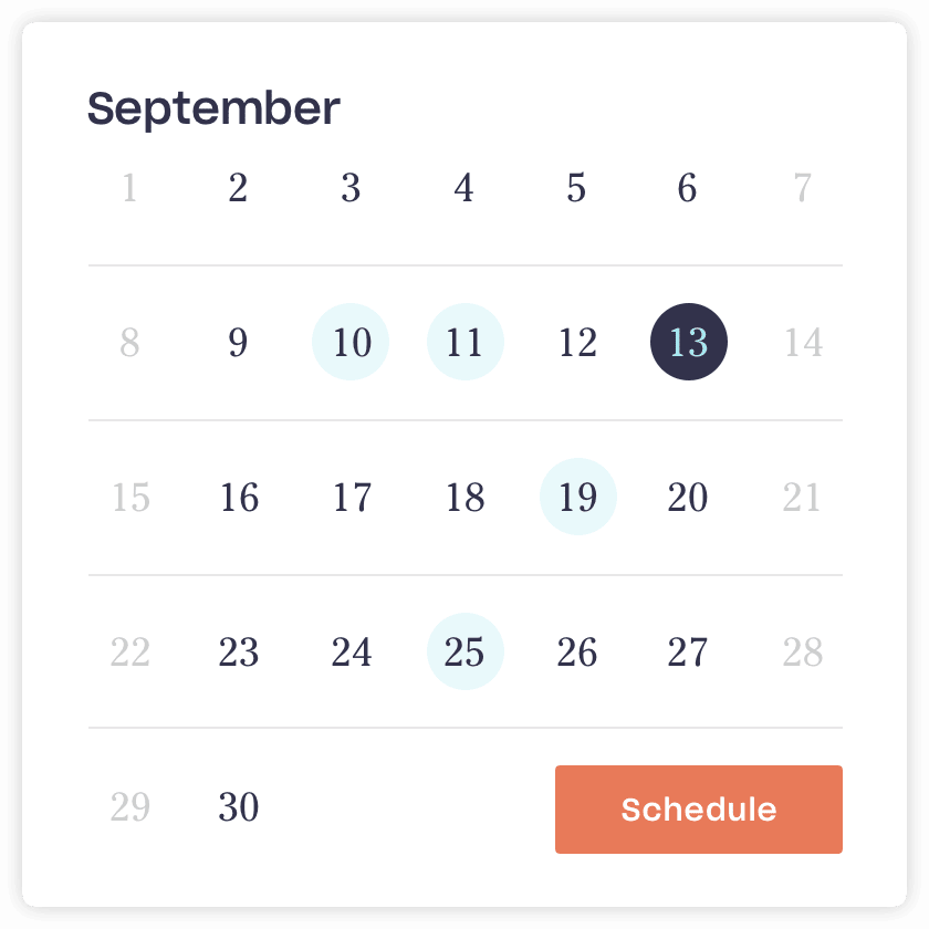 Close on your schedule