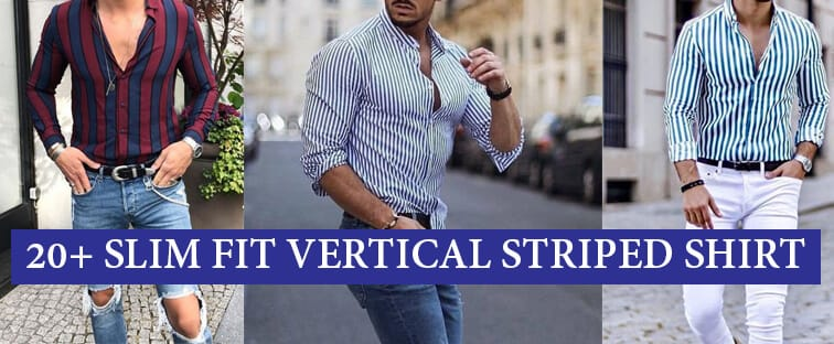 slim fit striped shirt outfit