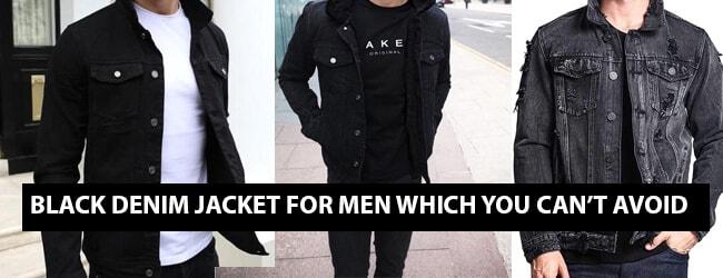 BLACK DENIM JACKET FOR MEN