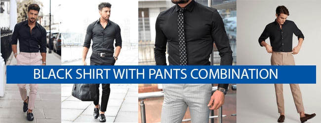 black shirt with pants combination