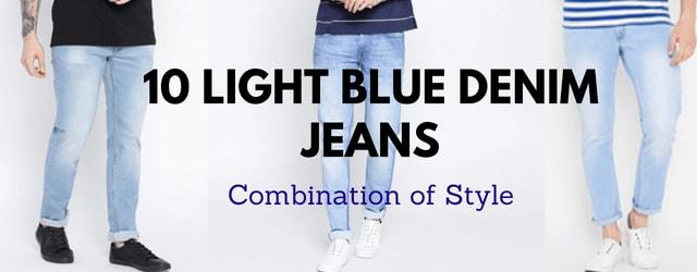 10 light blue jeans combination style