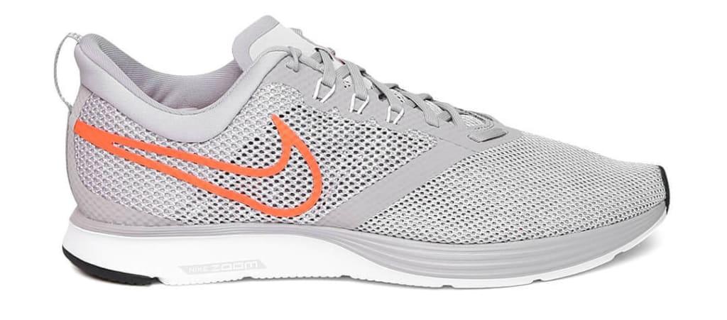 Grey white nike running shoes for men