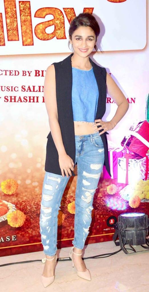 alia bhatt denim dress online
