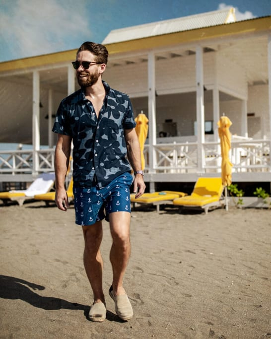Beach Shirt And Shorts For Men's