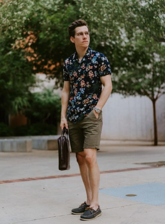 Floral Printed Beach Shirt Outfit For Men | floral printed beach outfit