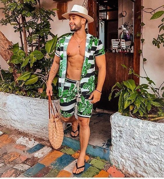 Matching Beach Shirt And Shorts
