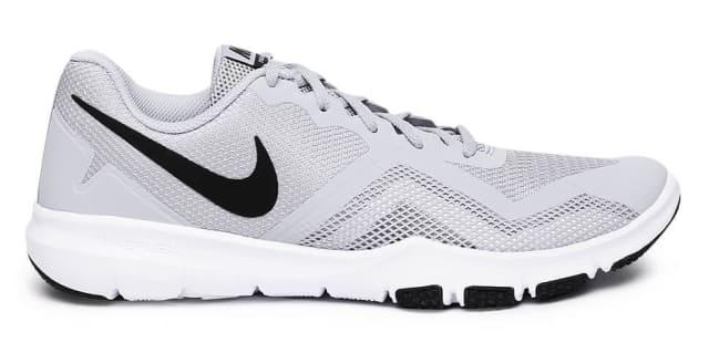 Mens White Grey Flat Feet Running