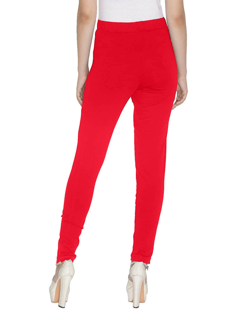 Red Women Straight Pants For Kurtis