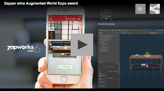Zappar wins Augmented World Expo award