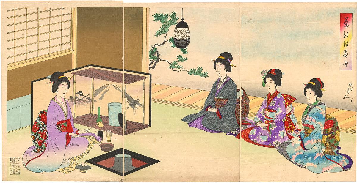 Yōshū Chikanobu: Chanoyu painting