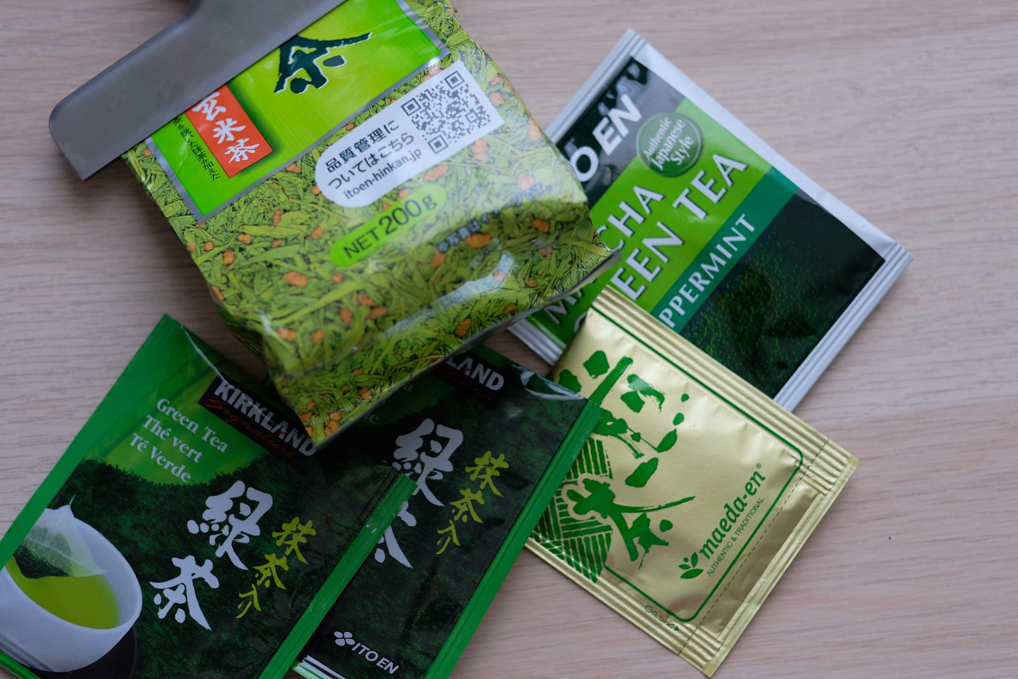 bagged green teas