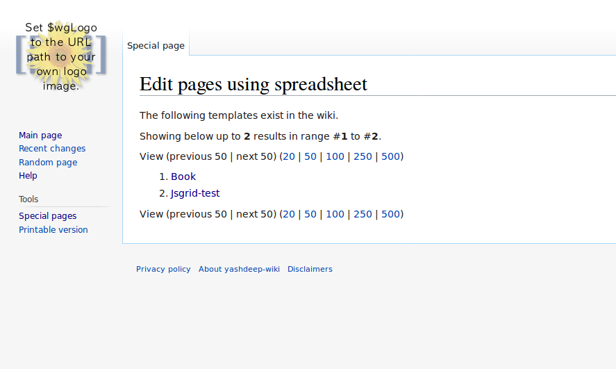 Special:EditUsingSpreadsheet without a template(default)