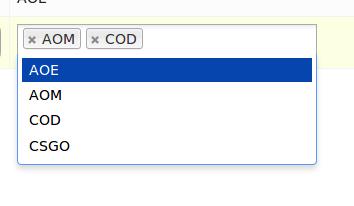 Tokens input type