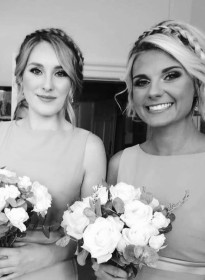 Elisha's Bridesmaids Grayscale Picture