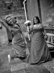 Bridesmaids Grayscale Picture