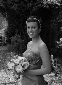 Elizabeth's Bridesmaid Grayscale Picture