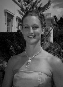 Lisa's Bridesmaid Grayscale Picture