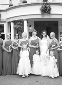 Jo's 10 Bridesmaids Grayscale Picture