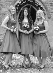 Tiffany'sBridesmaids Grayscale Picture