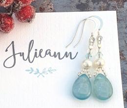 Fashion Jewellery Blue Kyanite Drop Earrings