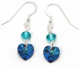 Bridesmaid Jewellery Bermuda Heart Earrings