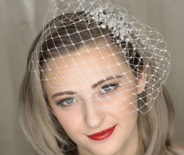 Bridal Accessories Ellie Birdcage Veil