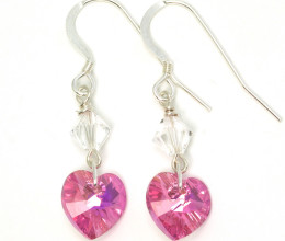 Bridesmaid Jewellery Rose Heart Earrings