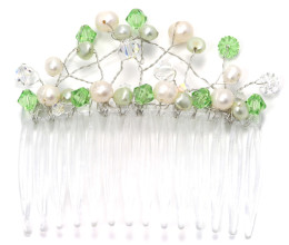 Bridesmaid Jewellery Peridot Comb