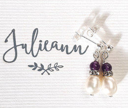 Fashion Jewellery Amethyst Whisper Earrings